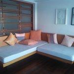 ロフトにあるソファー