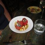 roasted tomato and apple salad