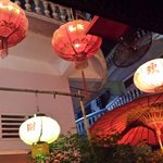chinese lanterns at the entrance