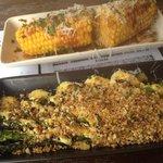 Corn cobs and asparagus