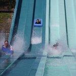 Giant racing waterslide