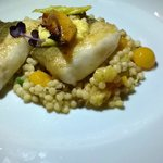 Cod confit with fregula 16.50 €: good