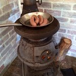 Our snags on the potbelly - delicious