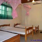 Rooms with AC and Mosquito nets