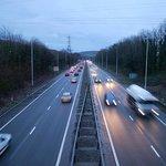 A busy A470 in the rain