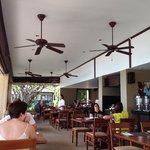 Indoor portion of restaurant