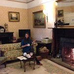 Fireside tea and cake