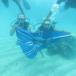mergulho com  cilindro