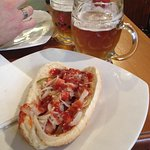 Hot dog con birra