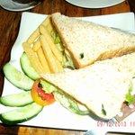 Club sandwich without salad