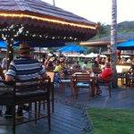 beach bar during Happy Hour