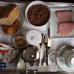 Free continental breakfast served in room (ham is additional cost)