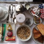 Free continental breakfast served in room (cheese is additional cost)