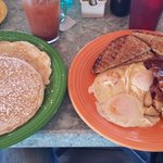 Huge breakfast...the 7 mile sunset special.  Great pancakes!
