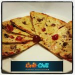 Dessert - Chocolate & Cherry Naan Bread