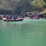 la salida del rafting en el manso