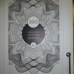 ecco la porta della nostra camera