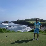 Signature hole with Tanah Lot in the background
