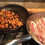 Sweet potato hash browns with rosemary from The Z garden!