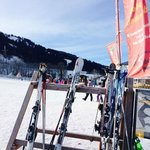 Another arty one...ski school in background