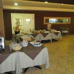Breakfast serving area