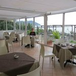 We had breafkast in this area of the restaurant overlooking the sea