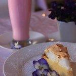 The famous Schreiner Tea Room milkshake and lemon meringue pie.