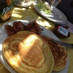My daughter's pancake breakfast at the cafe here