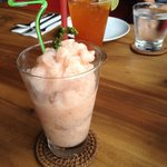 Strawberry and kampot pepper smoothie