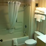 Clean and inviting bathroom with the softest towels!