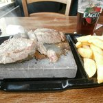 Close up of the Rock Sirloin steak