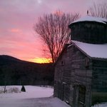 A soul-warming winter sunset in Okemo Valley.