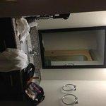 Separate sink area (hair dryer)