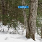 Lake trail sign