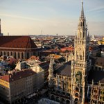 A view of Munich from a tower Curt recommended we climb post tour!