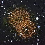 NY eve fireworks in the snow