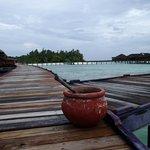 Pier to water villas