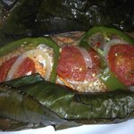fish grilled in banana leaf