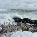 Amazing waves crashing up along the Marginal Way