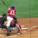 Bison Right Fielder Brad Glenn hits a homer, photo by Mike Keenan