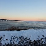 Beautiful view towards Ogunquit Beach from lawn at Beachmere.