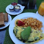 Organic Omelette set. $15 (drink excluded)