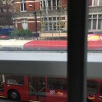double-decker bus passes by
