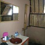 La salle de bain ouverte