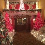 Holiday lights one main floor