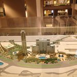 Architectual model of the hotel and grounds