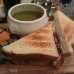 Club Sandwich & Leek & Potato soup