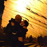 Welcoming the New Year with a kiss at Red Rocks