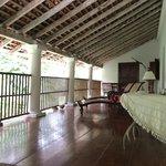 Balcony area in hotel