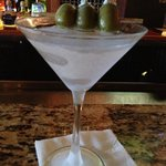 Mr C's dirty martini w blue cheese stuffed olives